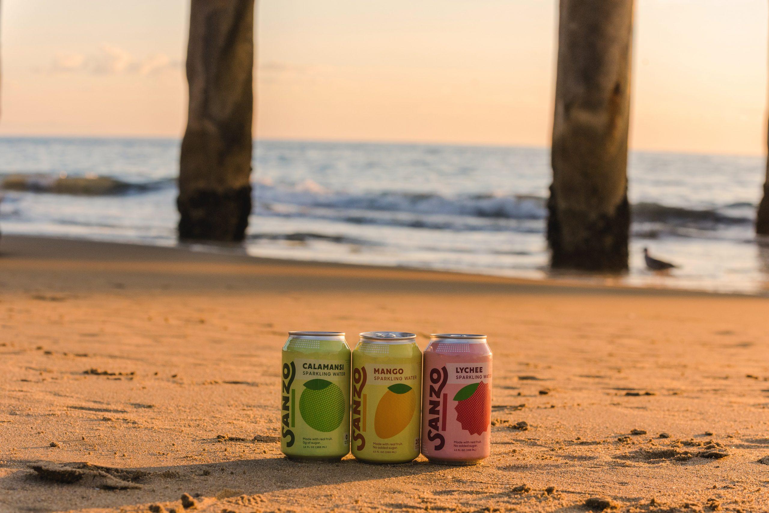eau seltzer boisson alcoolisée plage