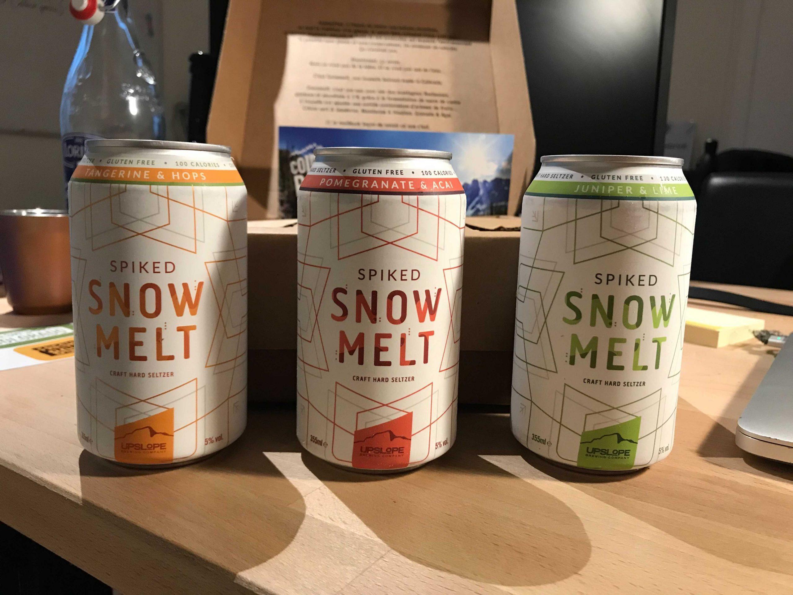Hard seltzer : Snowmelt disponible en grande distribution