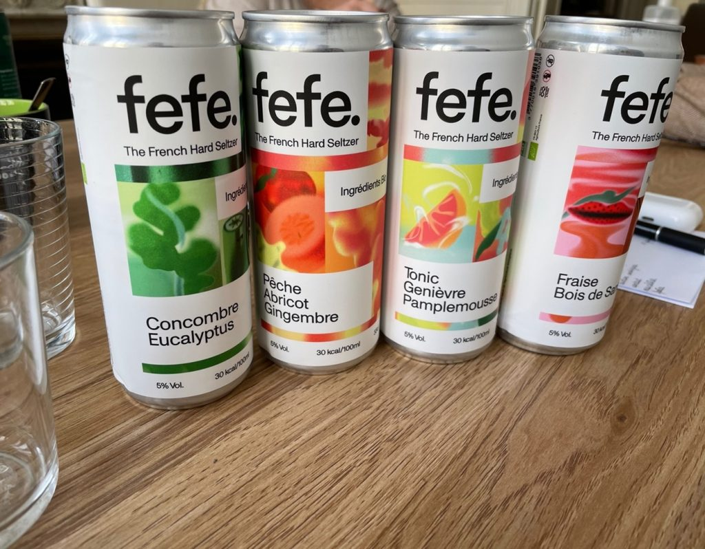 seltzer fefe packaging canettes